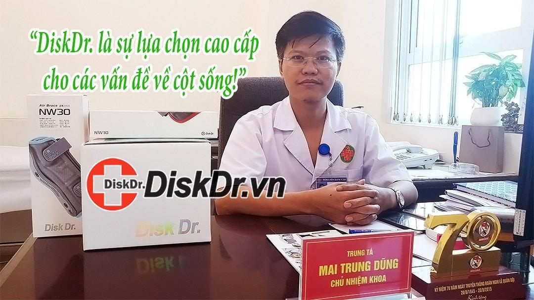 Bác sĩ Mai Trung Dũng nhận xét về đai kéo giãn cột sống DiskDr