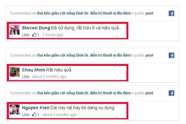 Phản hồi của khách hàng đã sử dụng DiskDr trên mạng xã hội Facebook