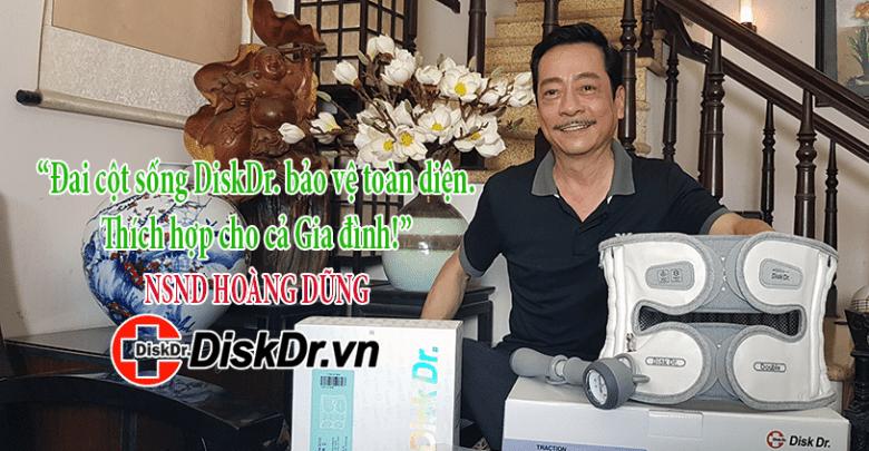 Nghệ sĩ Hoàng Dũng, Ông trùm Phan Quân hài lòng với đai cột sống DiskDr.
