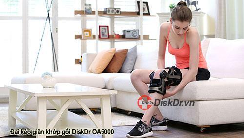 Đai kéo giãn khớp gối DiskDr OA-5000 điều trị viêm sưng khớp gối, đau khớp gối