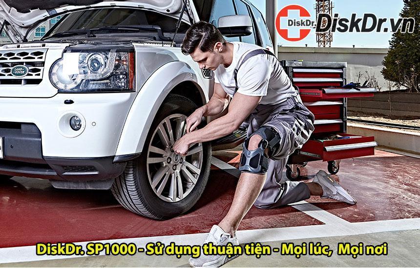 Đai gối thể thao DiskDr SP1000 sử dụng thuận tiện, mọi lúc mọi nơi
