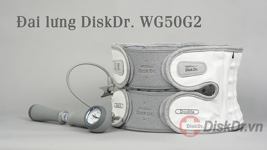 Đai lưng chữa thoát vị đĩa đệm DiskDr luôn đi kèm bơm tay để đưa hơi vào bên trong