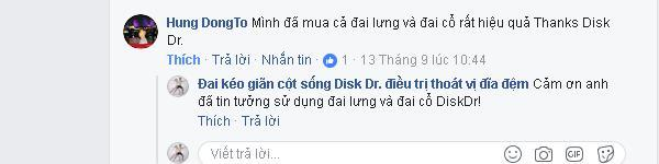 Anh Hung DongTo nhận xét đai DiskDr rất tốt