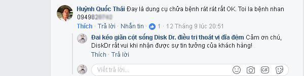 Huỳnh Quốc Thái nhận xét: DiskDr là dụng cụ chữ bệnh rất tốt.