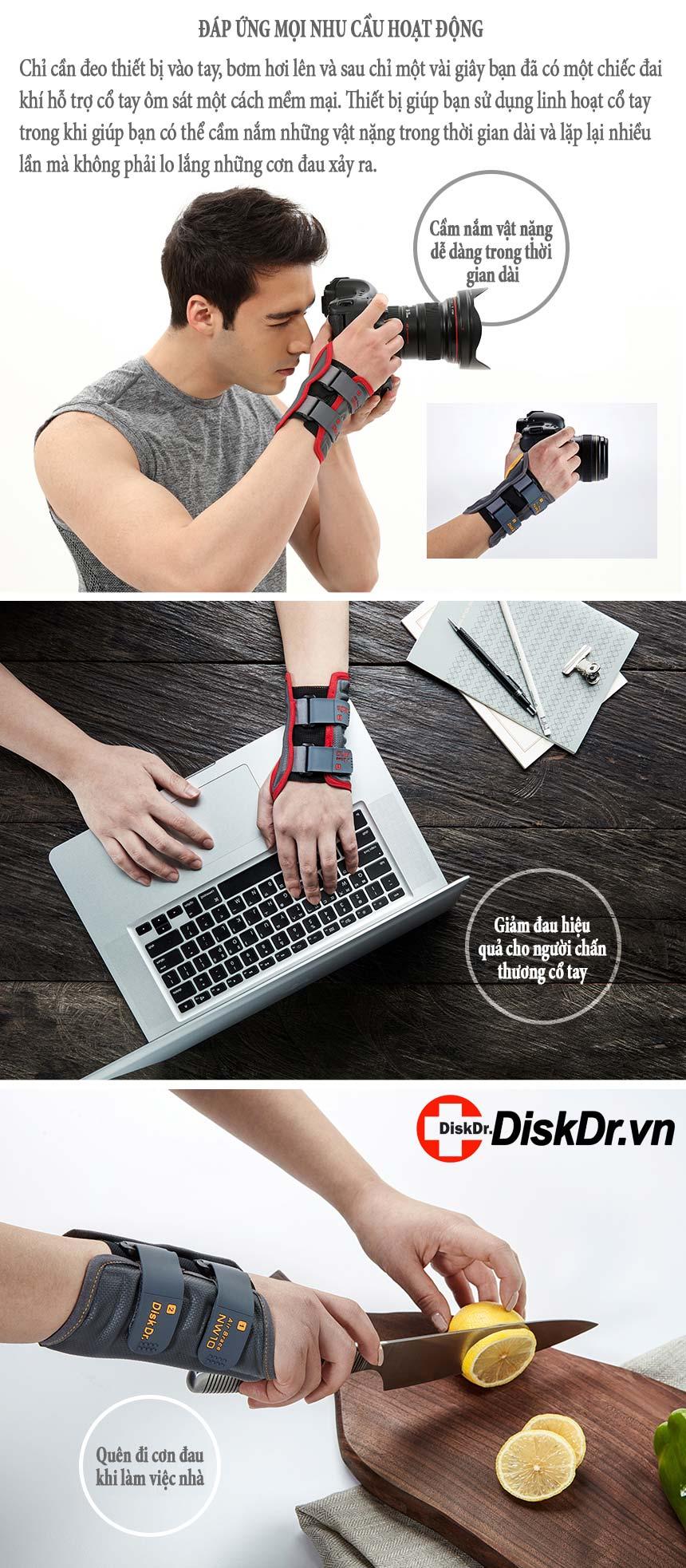 Đáp ứng mọi nhu cầu vận động của cổ tay