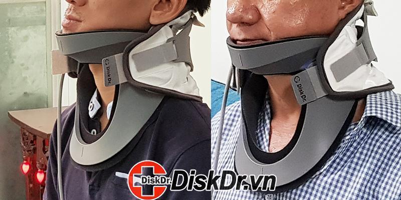 trải nghiệm của khách hàng khi dùng thử đai kéo giãn cột sống cổ DiskDr. CS300