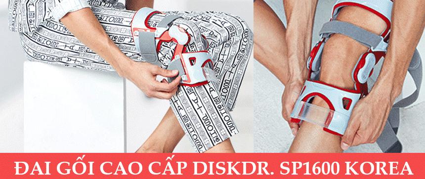 """Đai kéo giãn bảo vệ khớp gối DiskDr SP1600 công nghệ """"đòn bẩy"""" (Bản cao cấp)"""