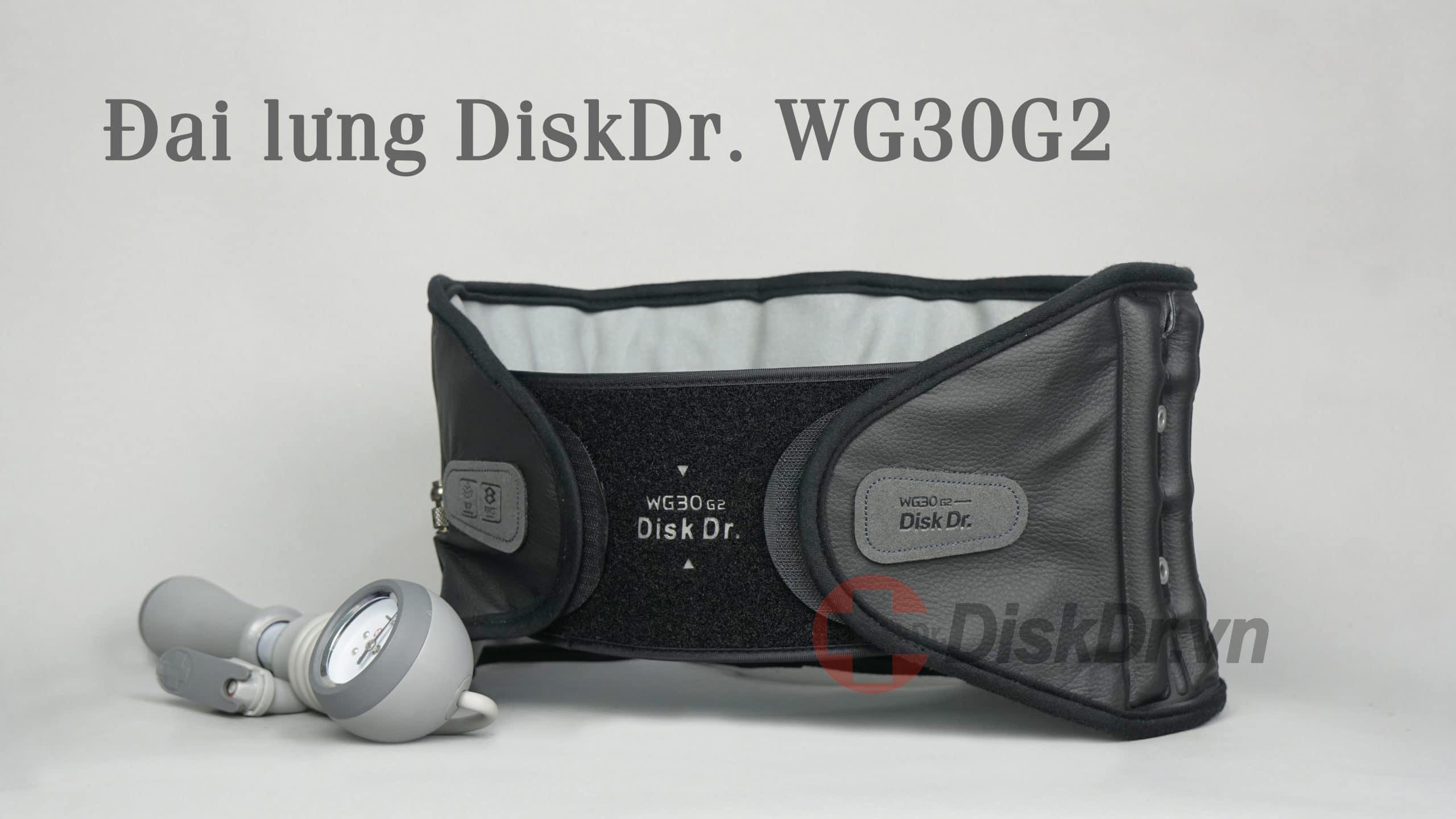 Đai kéo giãn cột sống lưng Hàn Quốc DiskDr WG30 G2 dành cho người dưới 60 kg