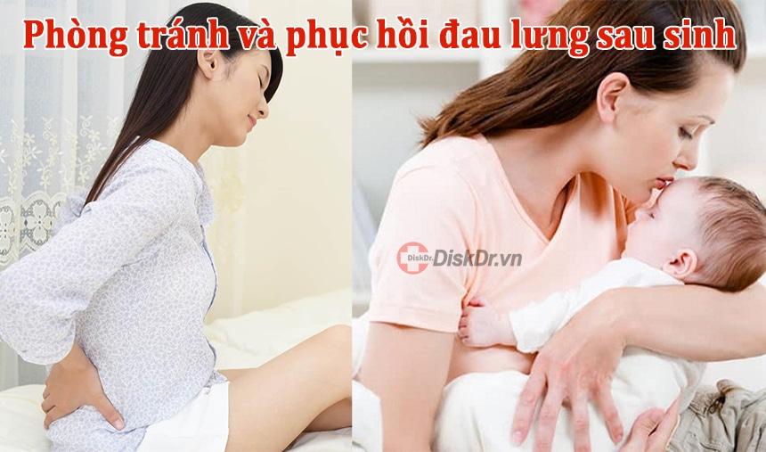 Cách phòng tránh và phục hồi đau lưng sau sinh