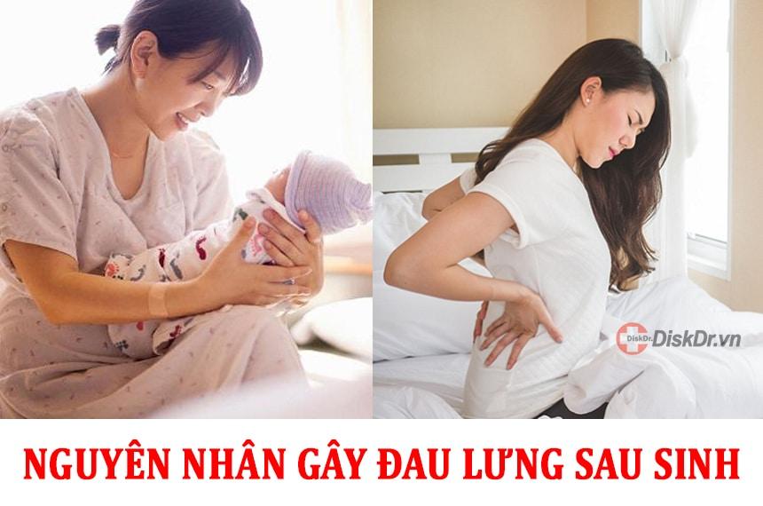 Nguyên nhân gây ra những cơn đau lưng sau khi sinh