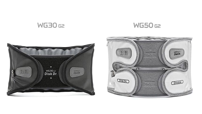 2 phiên bản mới nhất của đai lưng Disk Dr là WG30 và WG50