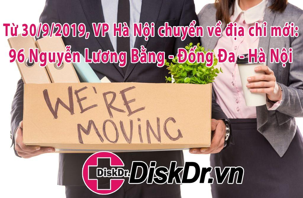 DiskDr chuyển địa điểm từ 160 Tây Sơn - Đống Đa - Hà Nội đến 96 Nguyễn Lương Bằng - Nam Đồng - Đống Đa - Hà Nội