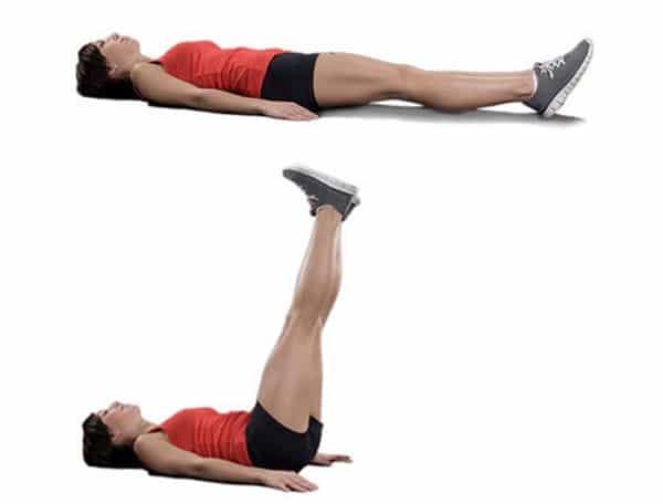 Người bị đau lưng không nên tập bài tập nhấc chân
