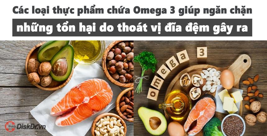 Các thực phẩm chứa omega 3 giúp ngăn chặn tổn hại do thoát vị đĩa đệm