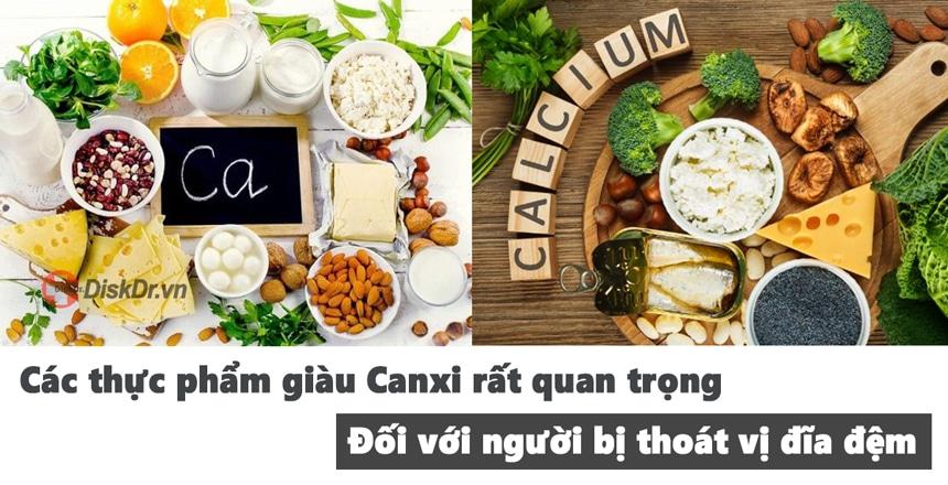 Canxi có vai trò quan trọng trong thực đơn của người thoát vị đĩa đệm