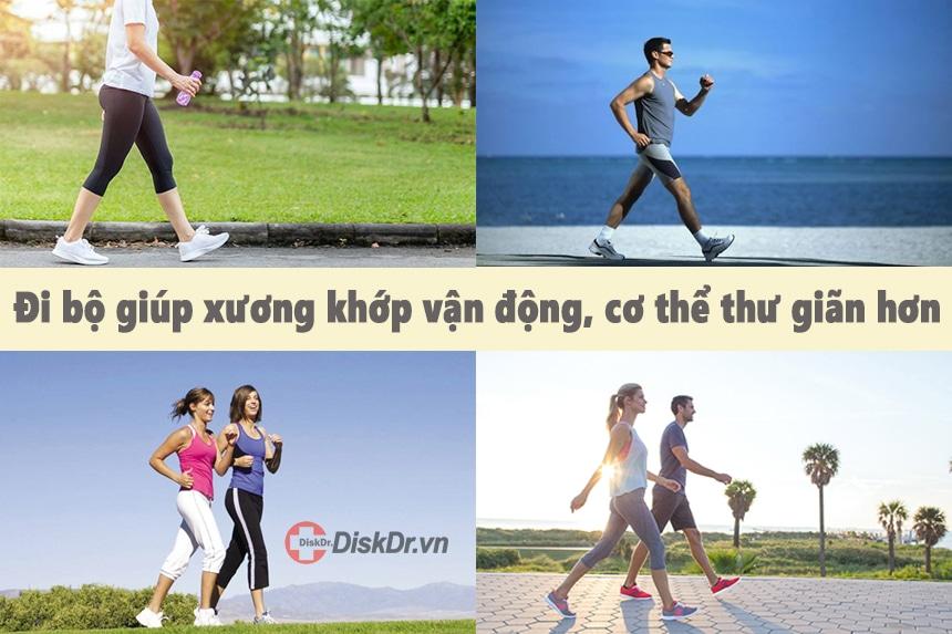 Đi bộ giúp xương khớp vận động và cơ thể thư giãn hơn