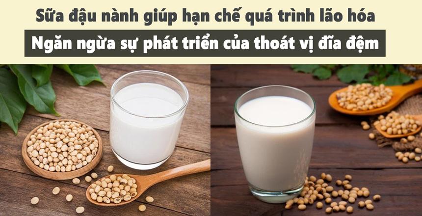 Sữa đậu nành giúp hạn chế quá trình lão hóa hiệu quả