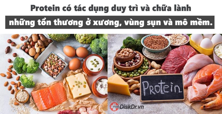 Tác dụng của protein đối với người thoát vị đĩa đệm