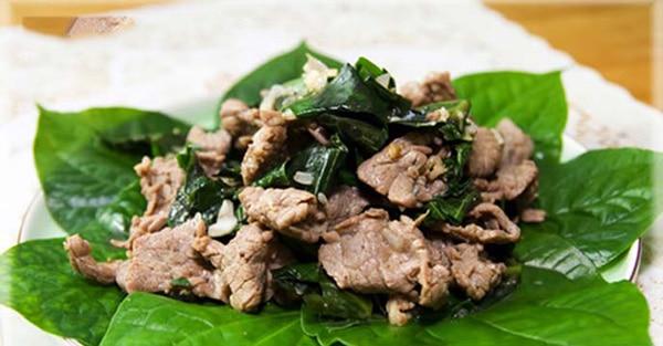 Món thịt bò xào lá lốt