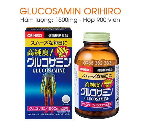 Thuốc hỗ trợ điều trị thoát vị đĩa đệm Glucosamine Orihiro của Nhật