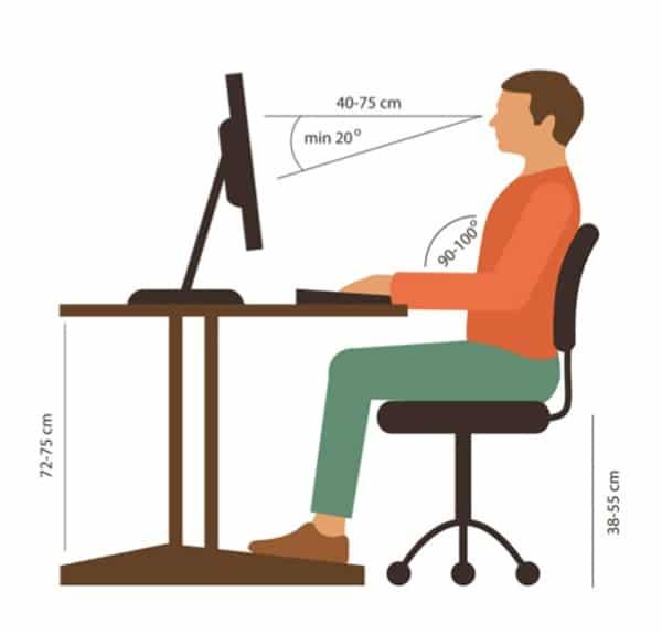Tư thế ngồi làm việc đúng giúp phòng tránh thoát vị đĩa đệm cột sống thắt lưng