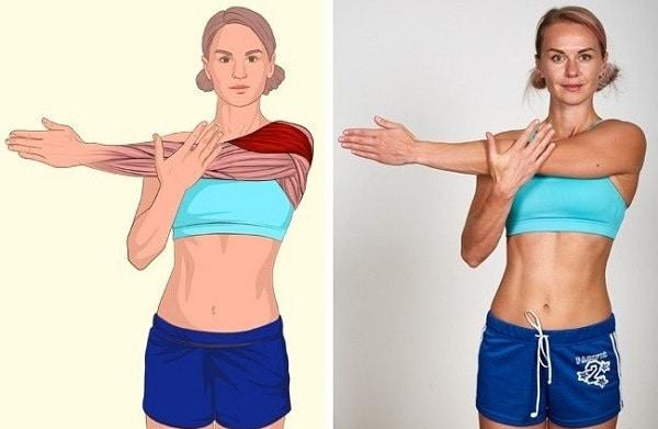 Bài tập kéo giãn nâng cơ vai
