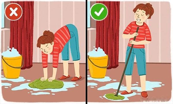 Tư thế làm việc nhà
