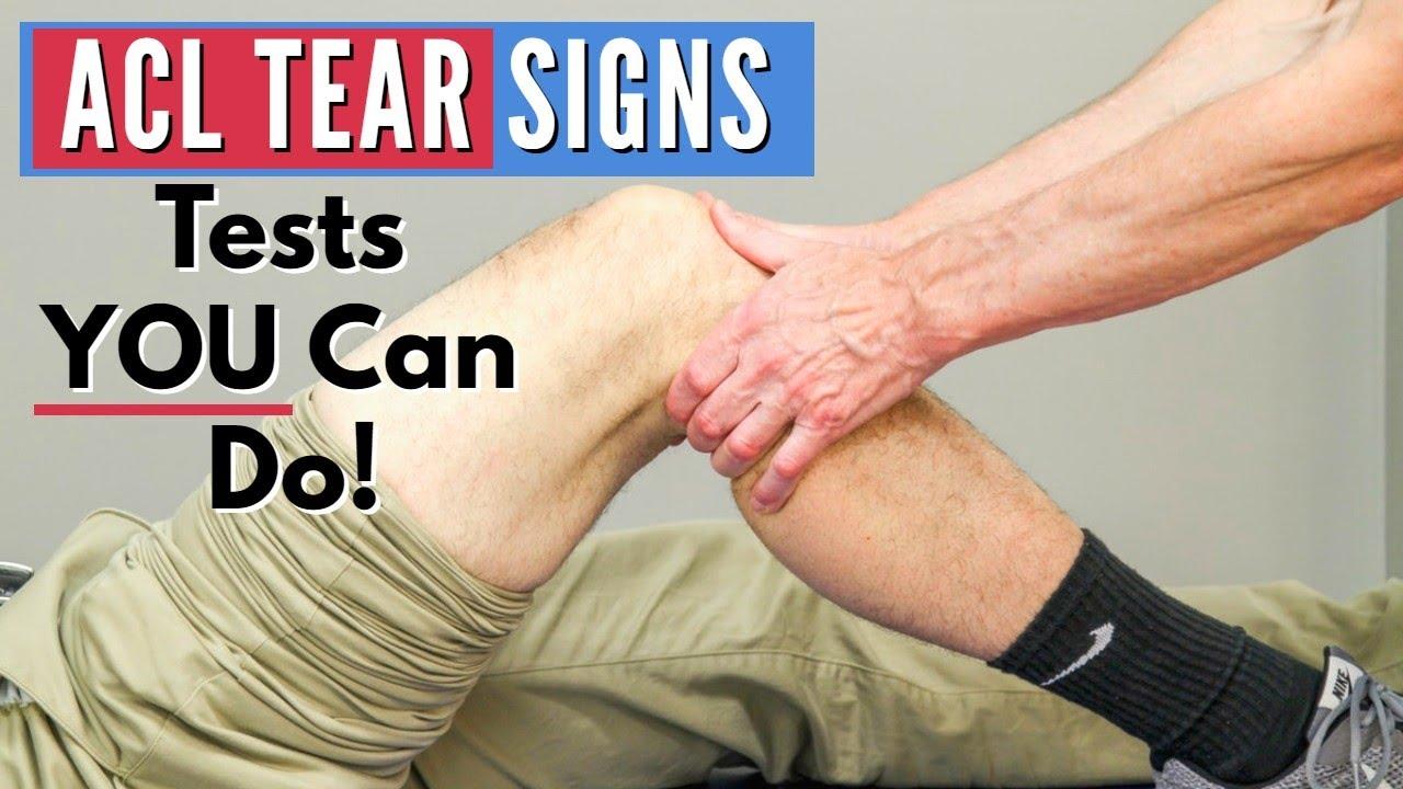 Cần sự kiểm tra của bác sĩ, người có chuyên môn để xác định có bị đứt dây chằng đầu gối hay không?