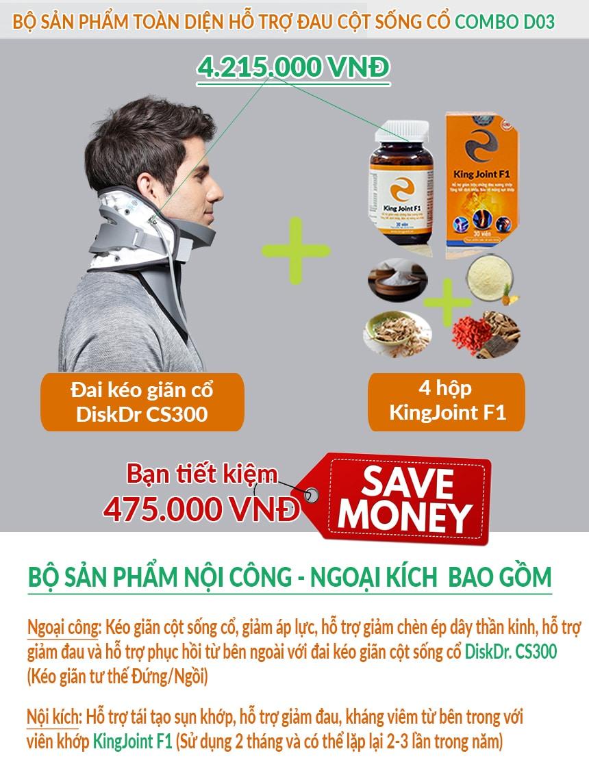 CS300 + KingJoint F1 giúp điều trị đau mỏi vai gáy hiệu quả, tiết kiệm