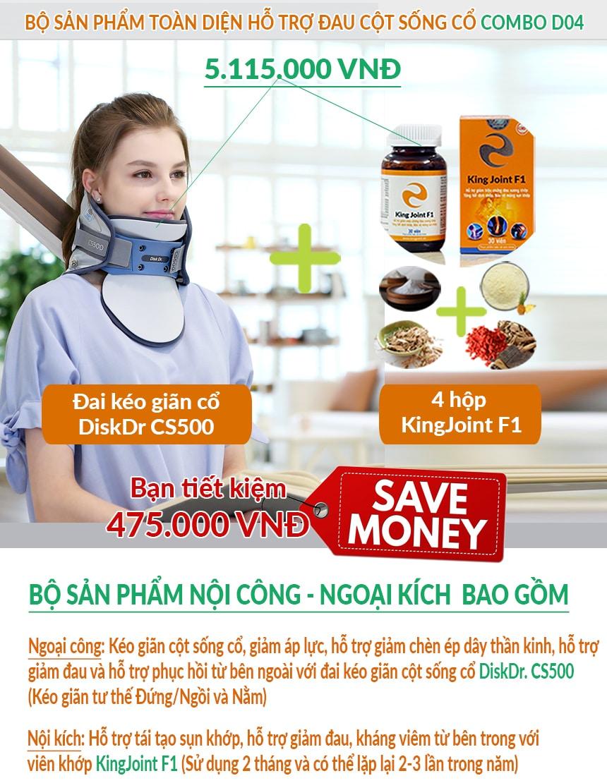 CS500 + KingJoint F1 giúp điều trị đau mỏi vai gáy hiệu quả, tiết kiệm