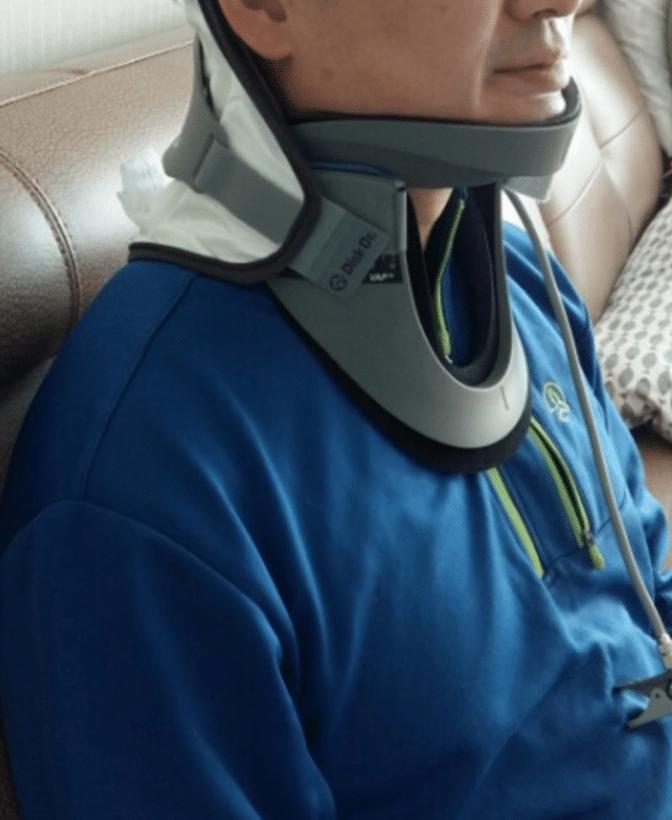 Ảnh thực tế khách hàng sử dụng đai cổ bơm hơi Hàn Quốc DiskDr