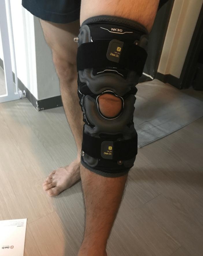 Sử dụng đai gối DiskDr để hỗ trợ điều trị đứt dây chằng