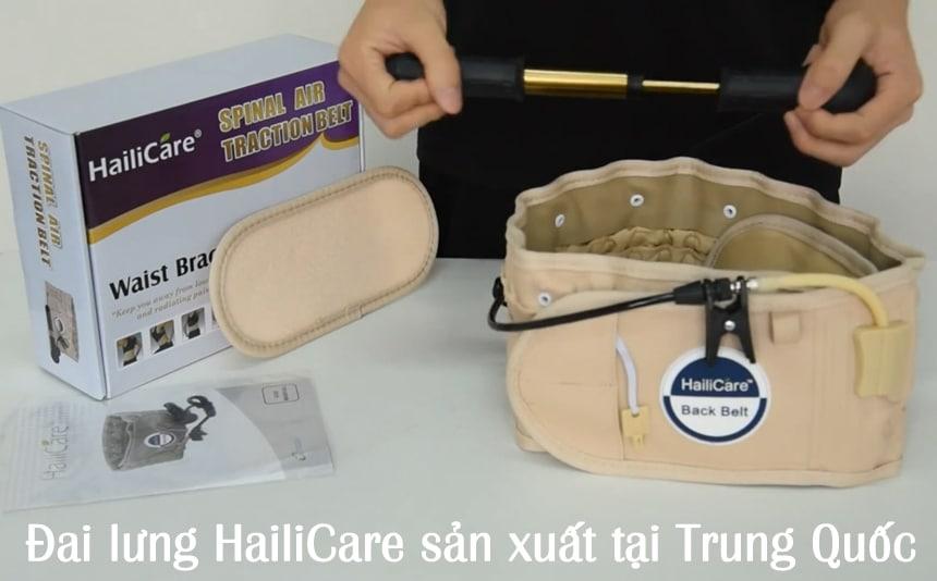 Đai lưng HailiCare sản xuất tại Trung Quốc