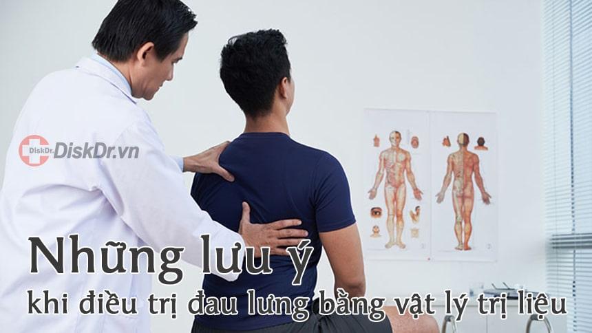 Những lưu ý khi điều trị đau lưng bằng vật lý trị liệu