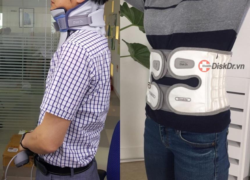 Đai lưng, đai cổ DiskDr. có nguyên lý hoạt động như các máy kéo giãn