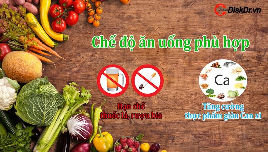 Chế độ ăn uống phù hợp giúp giảm thiểu đau thần kinh tọa