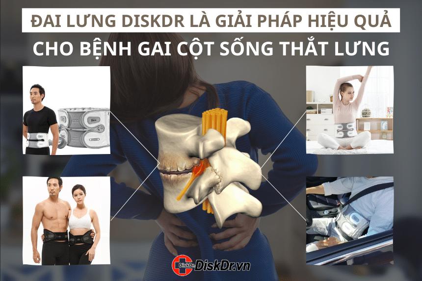 Đai lưng DiskDr Hàn Quốc là giải pháp hiệu quả cho người bệnh