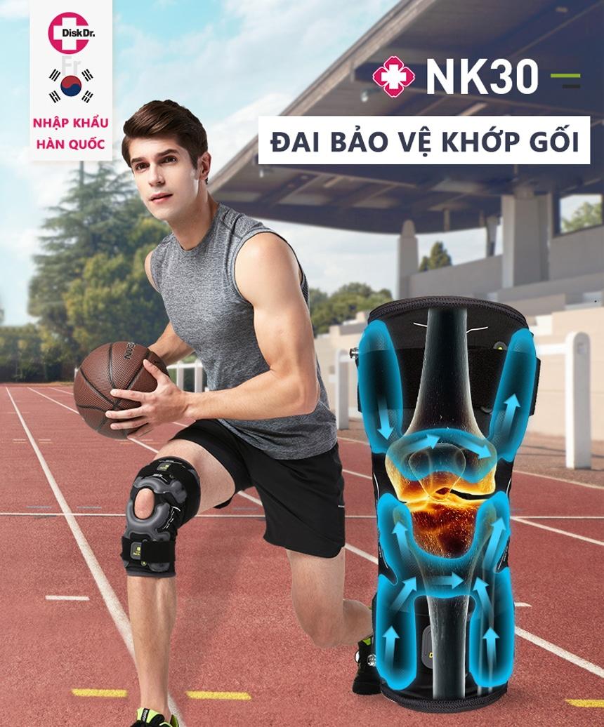 Đai bảo vệ khớp gối nhập khẩu Hàn Quốc DiskDr NK30
